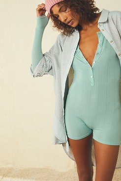 Easy Essentials Onesie by Intimately at Free People, White Spruce, XS