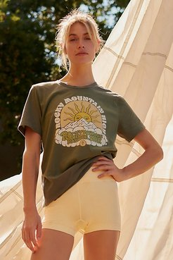 Rocky Mountain High Tee by Parks Project at Free People, Olive, XS