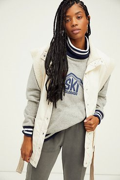 Ski Club Cowl Neck Pullover by CAMP Collection at Free People, Heather Grey, L