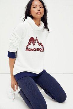Ski Club Turtleneck Sweater by CAMP Collection at Free People, White, XS