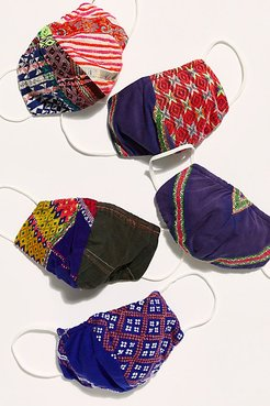 Hmong Mask by Tricia Fix at Free People, Violet, One Size