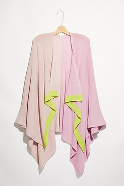 Borders Color Block Wrap by Free People, Lilac Lime, One Size