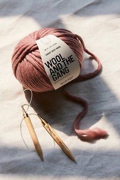 Happy Daze Beanie Kit by Wool And The Gang at Free People, Mellow Mauve, One Size