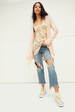 Disco Daydream Slip Set by Intimately at Free People, Almond Combo, M