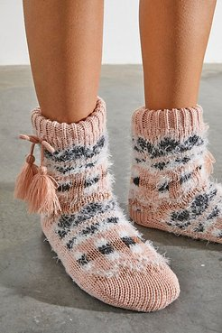 So Soft Vintage Knit Slippers by Free People, Rose Combo, L-XL/G-TG