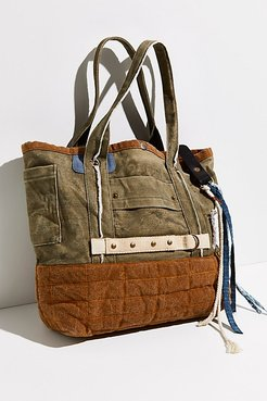 Tatum Selvage Tote by FP Collection at Free People, Olive, One Size