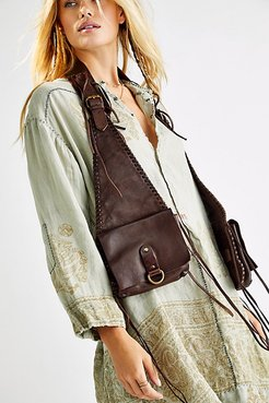 Kingsley Leather Harness Bag by FP Collection at Free People, Bitter Chocolate, One Size