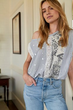 Splice Of Life Bodysuit by Intimately at Free People, Ecru Combo, XS