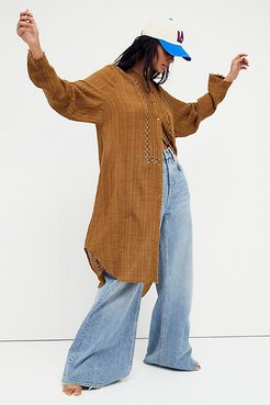 Aubin Maxi Top by FP One at Free People, Warm Tobacco, XS
