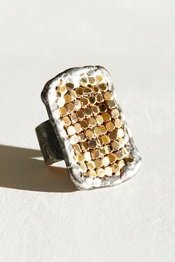 Chainmail Ring by Mikal Winn at Free People, Gold, One Size