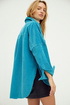 Oversized Cord Buttondown by CP Shades at Free People, Blue, XS