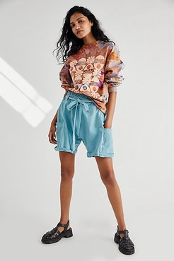 Calla Knit Harem Shorts by FP One at Free People, Cascade, XS