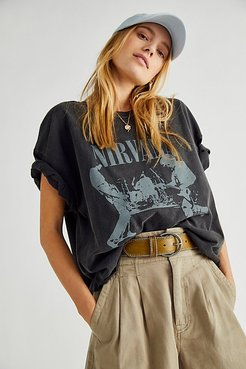 Nirvana Boxy Tee by Live Nation at Free People, Black Pigment, XS/S