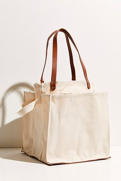Verve Canvas Market Tote by Free People, Ivory, One Size