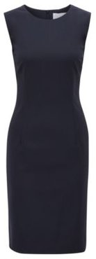 HUGO BOSS - Stretch Virgin Wool Shift Dress Dirusa - Dark Blue