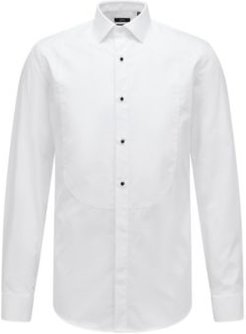 HUGO BOSS - Formal Slim Fit Shirt In Pure Cotton - White