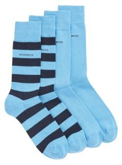 HUGO BOSS - Two Pack Of Regular Length Socks In A Combed Cotton Blend - Turquoise