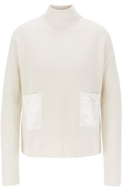 HUGO BOSS - Regular Fit Sweater In Cotton And Cashmere - White