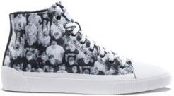 BOSS - High Top Sneakers With Crowd Scene Graphics - Light Grey