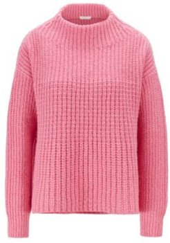 HUGO BOSS - Relaxed Fit Sweater In A Wool Blend - light pink