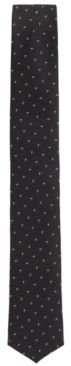 HUGO BOSS - Travel Line Tie In Patterned Silk With Water Repellent Finish - Dark Red
