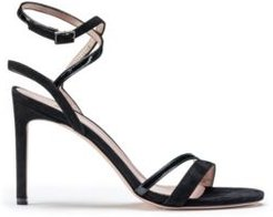 BOSS - Strappy Sandals In Italian Leather And Suede - Black