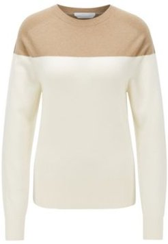 HUGO BOSS - Color Block Sweater In Pure Cashmere - Patterned