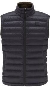 HUGO BOSS - Packable Down Gilet In Water Repellent Fabric - Black