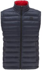 HUGO BOSS - Packable Down Gilet In Water Repellent Fabric - Dark Blue