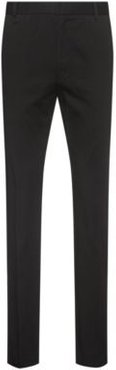 BOSS - Extra Slim Fit Stretch Cotton Pants With Belt Loops - Black