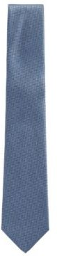 HUGO BOSS - Italian Made Tie In Water Repellent Silk Jacquard - Light Blue