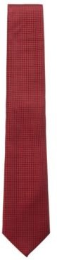 HUGO BOSS - Micro Patterned Tie In Pure Silk With Water Repellency - Red