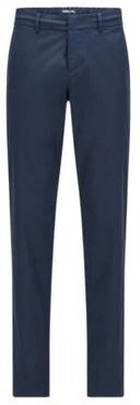 HUGO BOSS - Slim Fit Pants In Water Repellent Technical Twill - Dark Blue