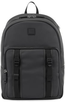 HUGO BOSS - Water Resistant Backpack In Matte Faux Leather - Black