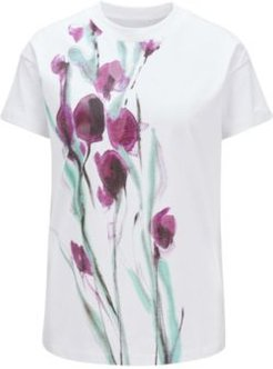 HUGO BOSS - Cotton Jersey Top With Mixed Print Artwork - Patterned