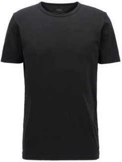 HUGO BOSS - Regular Fit T Shirt In Cotton With Sun Bleached Effect - Black