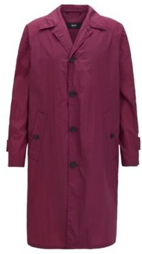 HUGO BOSS - Regular Fit Coat In Water Repellent Fabric - Dark pink