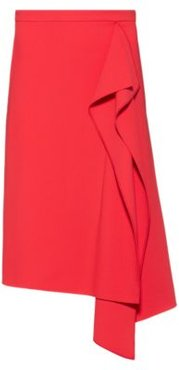 BOSS - Pencil Skirt In Stretch Fabric With Drape Front - Red