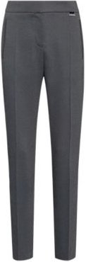 BOSS - Micro Patterned Relaxed Fit Cigarette Pants With Hardware Trim - Black