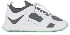 HUGO BOSS - Hiking Inspired Sneakers With Leather Facings - White