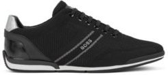 HUGO BOSS - Low Top Trainers With Knitted Uppers - Black
