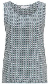 HUGO BOSS - Sleeveless Top In Pure Silk With All Over Print - Patterned