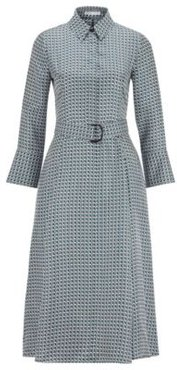 HUGO BOSS - Shirt Dress In Pure Silk With New Season Print - Patterned