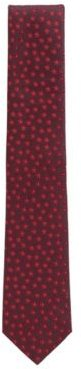 HUGO BOSS - Tonal Patterned Tie In Water Repellent Silk Jacquard - Dark pink