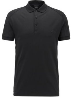 HUGO BOSS - Slim Fit Polo Shirt With Body Mapping And S.Caf - Black