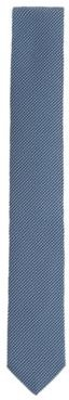 HUGO BOSS - Italian Made Micro Patterned Tie In Recycled Fabric - Light Blue