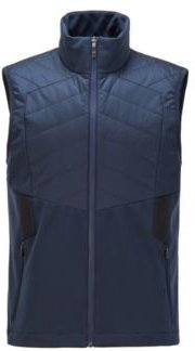HUGO BOSS - Water Repellent Gilet With Padding And Reflective Details - Dark Blue