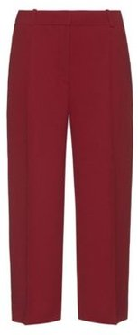 BOSS - Wide Leg Cropped Pants With Crease Front - Light Red