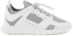 HUGO BOSS - Leather Trimmed Trainers With Reflective Knit - White