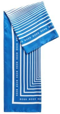 HUGO BOSS - Square Scarf In Pure Silk With Collection Print - Patterned